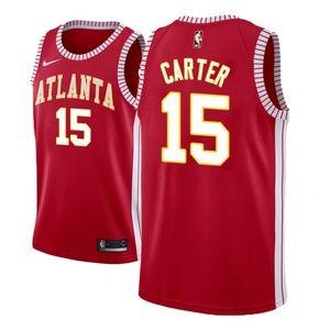 Atlanta Hawks #15 Vince Carter Jersey Red
